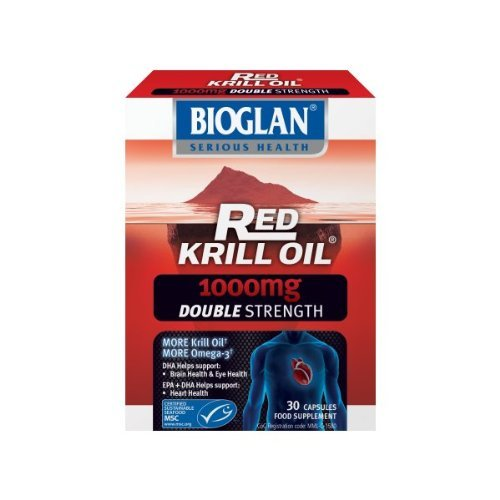 Red Krill Oil 1000mg Double Strength 30 Capsules - x 4 Units Deal by Bioglan by BIOGLAN