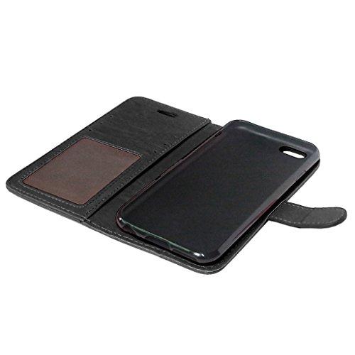"""iPhone 6 6S 4.7"""" Hülle, Apple iPhone 6 6S 4.7"""" Hülle Lifetrut®[ schwarz ] Schutzhülle Flip PU Ledertasche Ständer Schutzhülle Tasche Hülle Case Cover mit Kreditkartensteckplätze für Apple iPhone 6 6S"""
