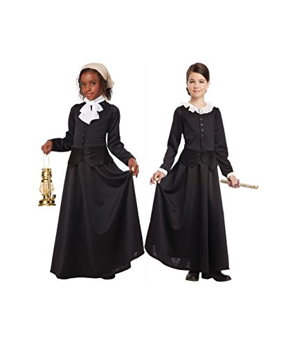 [California Costumes Susan B. Anthony/Harriet Tubman Girl Costume, One Color, Medium] (19th Century Dress Costume)