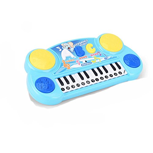 DUWEN Keyboard Children's Music Player Beat Drum Combo Multi Function Keyboard Early Childhood Instruments Charging Version (Color : Blue) by DUWEN