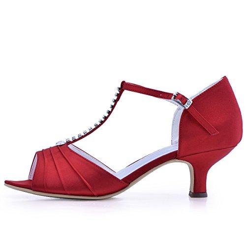 Rouge Diamant Cheville De Bout Bride Mitalon 035 Femme Salome Escarpins Chaussures Elegantpark Bal El Satin Ouvert Mariee zaqTpn