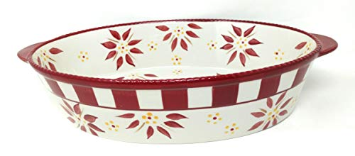 - Temp-tations 3 Qt Oval Baker with Plastic Cover (Old World Cranberry)