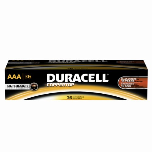Aaa Batteries Voltage - Duracell Professional MN24P36 Coppertop AAA Battery, 1.6-0.75V Operating Voltage (Pack of 36)