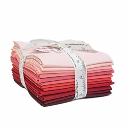 Bella Solids Reds 12 Fat Quarters Moda Fabrics 9900AB 122