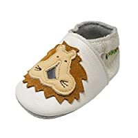 Sayoyo Baby Shoes Soft Leather Sole Infant Shoes Toddler Prewalker Shoes with...