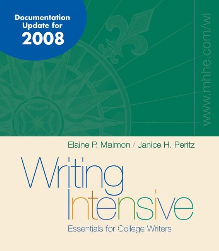 Writing Intensive 2008 MLA/APA/CSE Update with Catalyst 2.0