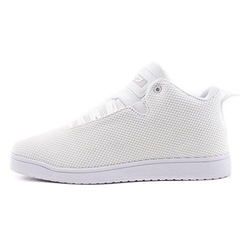 Stylische Unisex Damen Herren High Low Top Schnür Sneaker Basketball Sport Freizeit Turn Schuhe Weiß 41