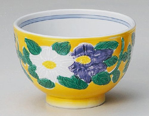 YELLOW-KOUSHI Jiki Japanese Porcelain Set of 10 Ramen-Bowls for UDON,SOBA,TERIYAKI-BOWL made in JAPAN by Watou.asia