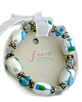 Linpeng IUP38-1 Fiona Hand Painted Balloon and Champagne Glass Beads Stretch Bracelet