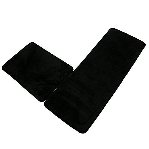 SHACOS Memory Foam Bath Rug Bathroom Runner Set of 2 Non Slip Bathmat Foam Kitchen Rugs Floor Mats (18×26+18×47, ()