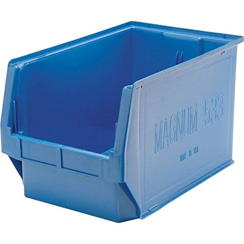 Quantum Storage Magnum Bin - 3-Pack, 19 3/4in.L x 12 3/8in.W x 11 7/8in.H, Blue, Model# QMS533BL