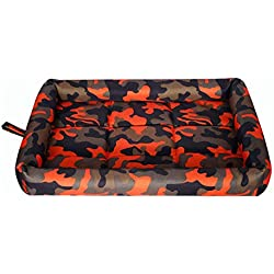 LJM- Pet Heating Pad, Dog Cat Electric Heating Pad Indoor Waterproof Adjustable Warming Mat with Chew Resistant Steel Cord (Color : A, Size : M)