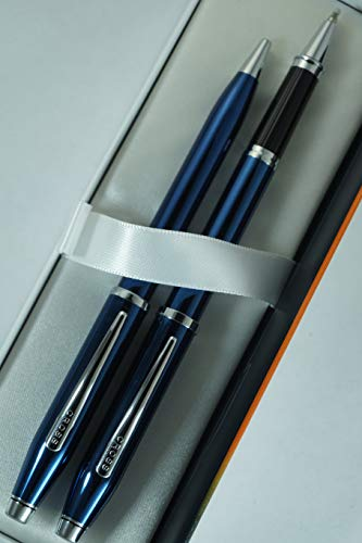 Cross Century II Limited Series, Pearlescent Metallic Blue selectip Gel Ink Rollerball Pen and Ballpoint Pen. by A.T. Cross (Image #2)