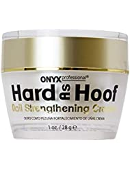 Hard As Hoof Nail Strengthening Cream with Coconut Scent Nail Strengthener, Nail Growth & Conditioning Cuticle Cream Stops Splits, Chips, Cracks & Strengthens Nails, 1 oz