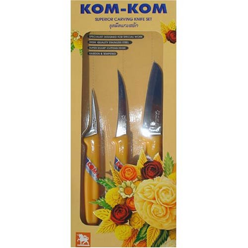 Kom fruit and vegetable carving knives set c in the