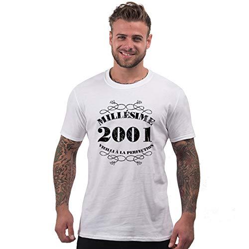 Ans Anniversaire Millésime M Blanc 18 2001 T shirt Homme qIZ54Sw