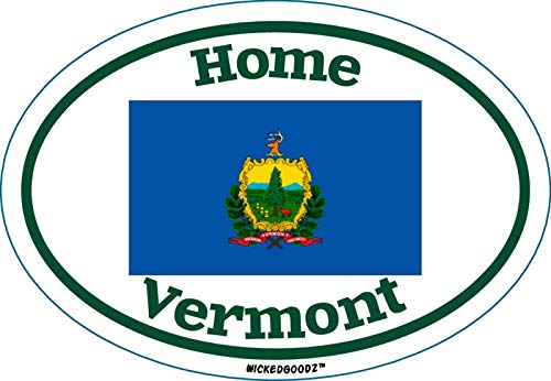 State Flag Bumper Sticker WickedGoodz Oval Vermont Home Vinyl Decal Perfect Vacation Gift