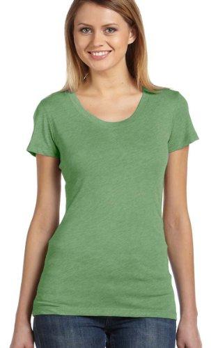 Bella + Canvas Ladies Triblend Short-Sleeve T-Shirt, Large, Green Trblnd New