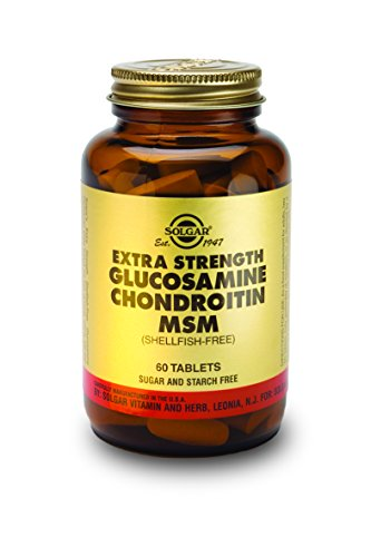 Solgar Extra Strength Glucosamine Chondroitin MSM Tablets, 6