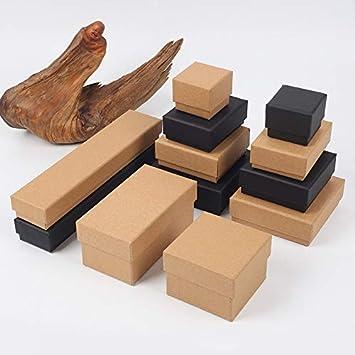 3.5cm 10 Noir JUNGEN Papier Kraft Bo/îte /à Bijoux Carr/é Coffret Carton demballage Cadeau DIY Bo/îte de Rangement Bo/îte /à Bonbons Coffret /à Bijoux Bo/îte /à Pain 10