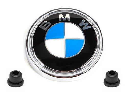 Roundel Rear Emblems - BMW e70 Hatch Emblem Roundel + Grommets GENUINE