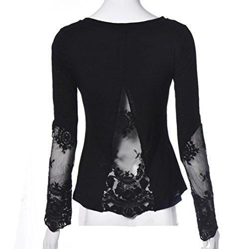 Camisas Mujer,Xinan Manga Larga Blusa Negro Atractivo