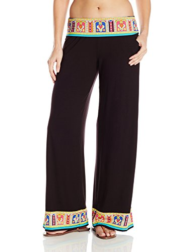 Trina Turk Women's Nepal Roll Top Wide Leg Pant Cover up, Multi, S