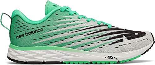 New Balance Women's 1500v5 Running Shoe, White/neon Emerald, 9 B US