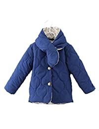 Lemonkids Children Fancy Girls Winter Warm Outfit Anoraks Jacket with Scarf