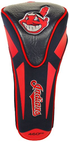 Indians Team Cleveland Design (Team Golf MLB Cleveland Indians Golf Club Single Apex Driver Headcover, Fits All Oversized Clubs, Truly Sleek Design)