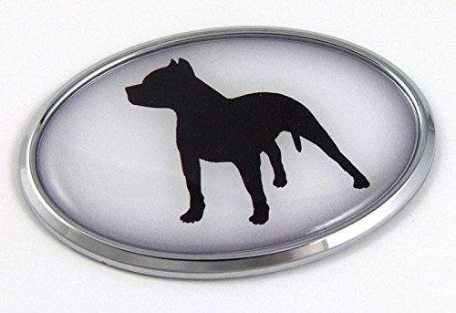 Pit Bull New Front Stand - Pit Bull Dog Breeds 3D Chrome emblem Pet Decal Car Auto Bike Truck Sticker