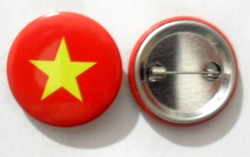 National Country Flag Lapel Pin Button Badge Applique Emblem 3 Cm Diameter (Vietnam)