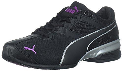 PUMA Women's Tazon 6 Metallic Wn Sneaker, Black-Grape Kiss, 7.5 M US