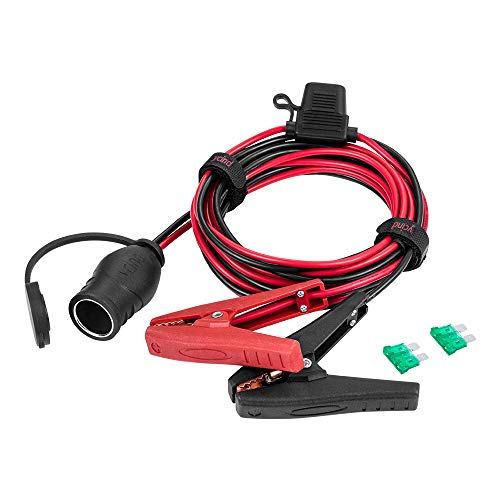 19becd35d3cc [UL Listed] YCIND Battery Alligator Clips Clamp Clip-on to Female Cigarette  Lighter Socket Outlet Boost Cable Heavy-Duty 30A Fuse 12V/24V 12AWG Cord  10Ft