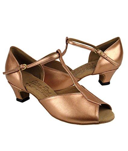 Mycket Fin Balsal Latin Tango Salsa Dansskor För Kvinnor S2802 1,2 Tums Klack + Vikbar Pensel Bunt