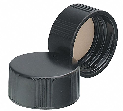 Phenolic Screw On Phenolic Cap, Black, 500 PK