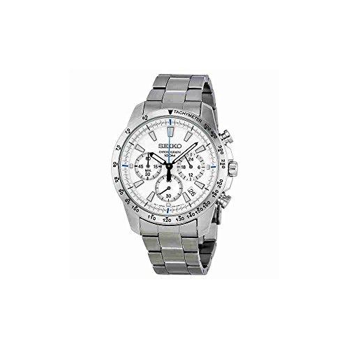 Seiko SSB025 men's Chronograph stainless Steel Case Watch
