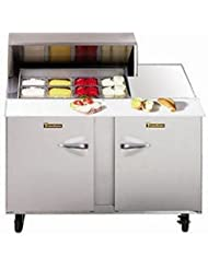 Traulsen UPT488-LR Dealers Choice Compact Prep Table 48 Wide with (8) Pan Capacity & Left/Right Door Configuration