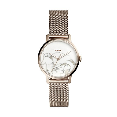Fossil Women's Neely Analog-Quartz Watch with Stainless-Steel Strap, Pink, 16 (Model: ES4404)