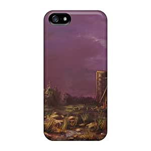 Rugged Skin Case Cover For Iphone 5/5s- Eco-friendly Packaging(cloud Burst)