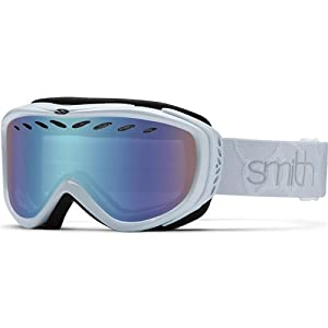 Smith Optics Transit Women's Airflow Series Snow Snowmobile Goggles Eyewear - White / Blue Sensor Mirror / Medium
