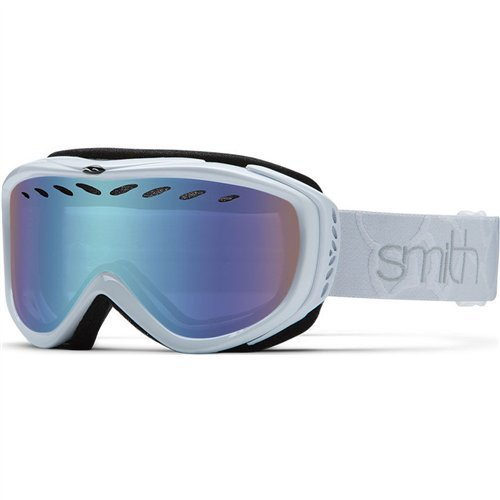 Smith Optics Transit Women's Airflow Series Snow Snowmobile Goggles Eyewear - White / Blue Sensor Mirror / - Goggles Designer