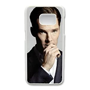 Generic Fashion Hard Back Case Cover Fit for Samsung Galaxy S7 Cell Phone Case white Sherlock with Free Tempered Glass Screen Protector NUR-1722434