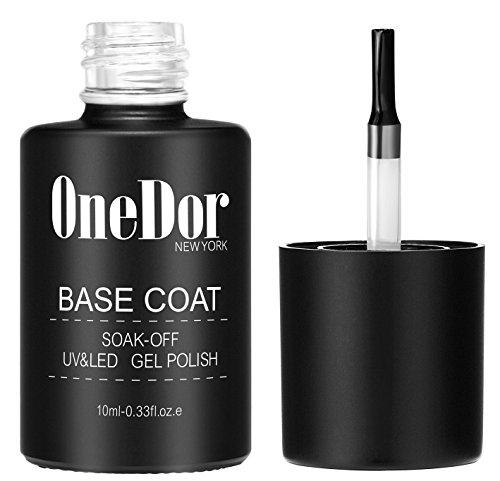 Onedor Gel Top Coat Amp Base Coat Soak Off Polish Set Kit