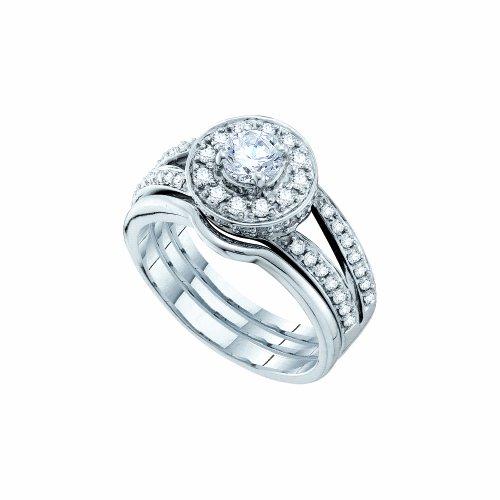 0.99CTW DIAMOND LADIES BRIDAL SET WITH 0.40CT ROUND CENTER (Center 0.4 Ct Round)