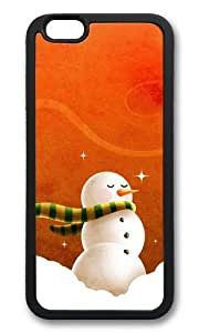 MOKSHOP Adorable Intoxicated Christmas Snowmen Soft Case Protective Shell Cell Phone Cover For Apple Iphone 6 Plus (5.5 Inch) - TPU Black
