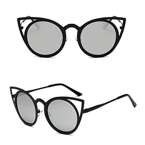 NNDA CO Women Cat Eye Sunglasses Classic Designer Oversized UV400 Eyewear Fashion Shades,metal+resin,1 Pc - Eyewear And Co