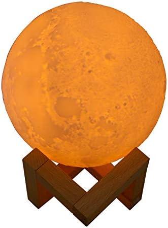 FairOnly Umidificatore ad Aria Ricaricabile USB della Lampada della Luna 3D per la decarizzazione dellufficio della Stanza