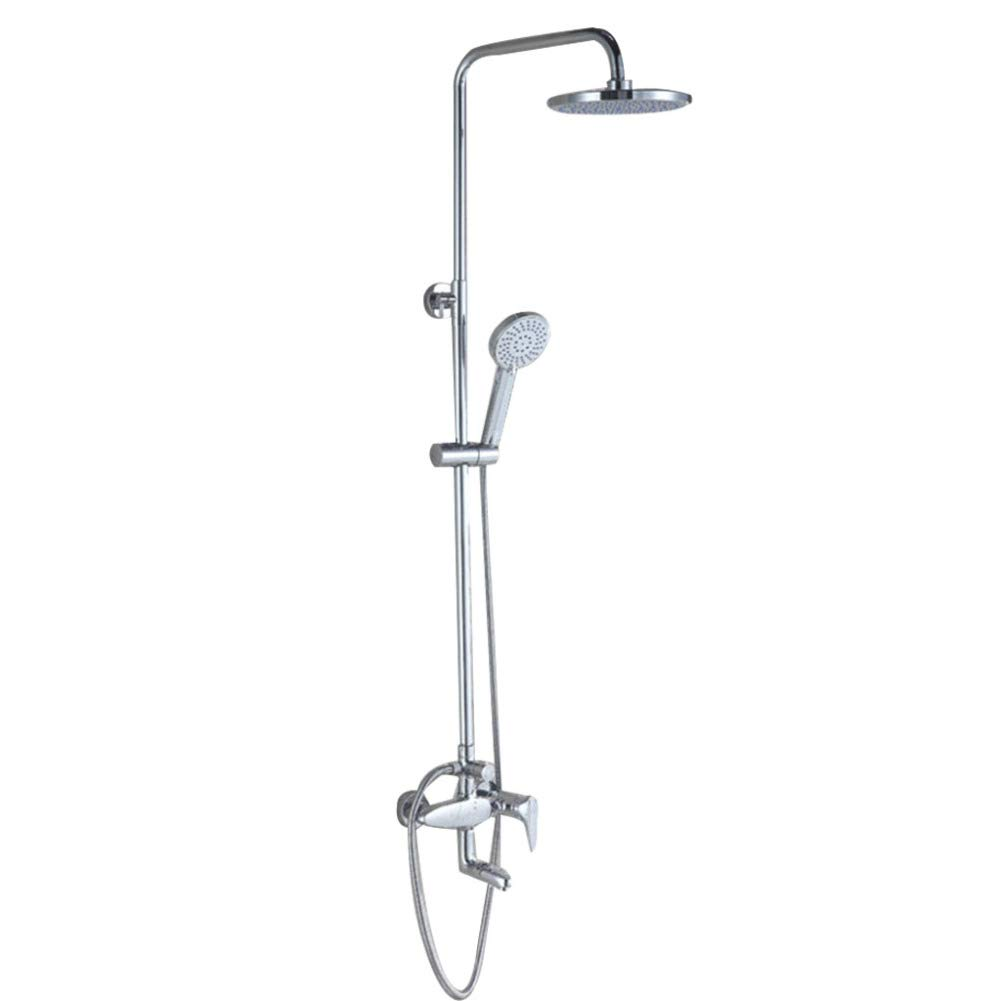 Shower Set, Three Gears, Copper, Liftable, Adjustable Water Outlet, Round Top Shower Head, Hot And Cold Water Mixing Dragon
