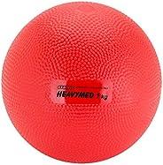 KETTLER Gymnic Heavymed 1 Medicine Ball, Red (12 cm, 1 kg / 2.2 lbs)